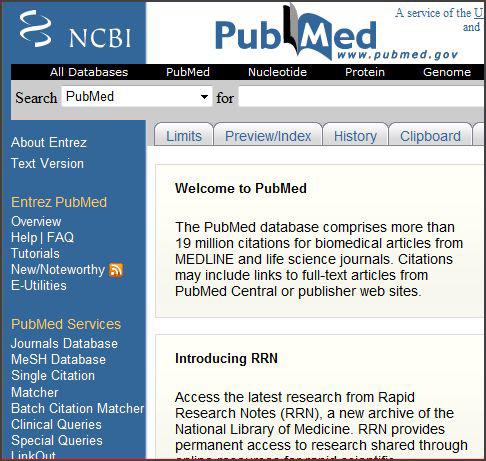 PubMed MeSH Sidebar
