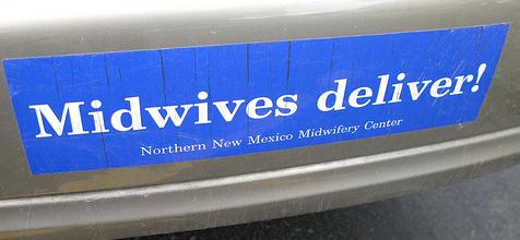 Midwives Deliver bumper sticker2