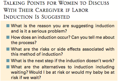 elective inductions and birthing education