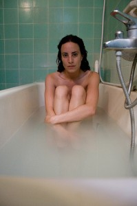 mother in tub