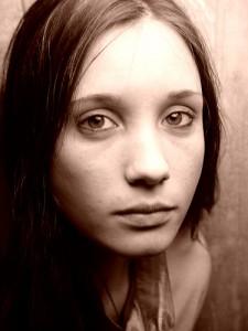 sad pp woman