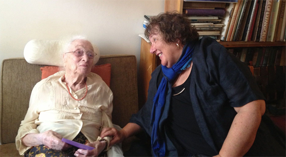 Dr. Mary Jo Podgurski and Elisabeth Bing 2014 © Podgurski